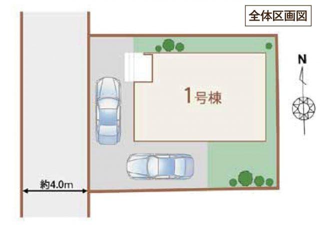 区画図です。カースペースは2台予定です。(地図)