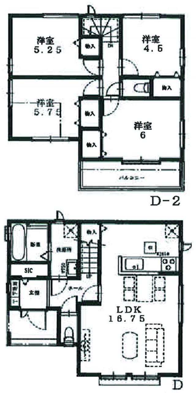 D号棟参考プラン(間取)