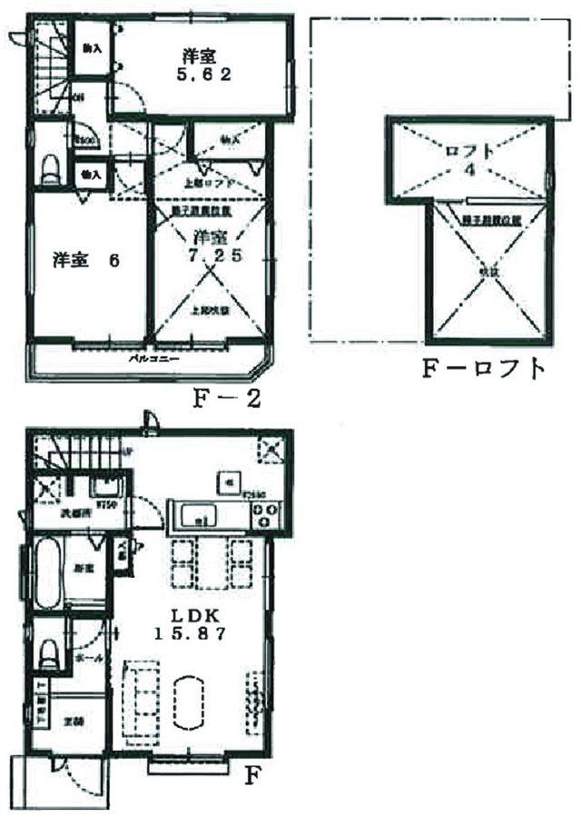 F号棟参考プラン(間取)