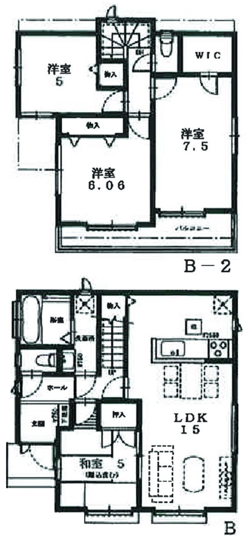 B号棟参考プラン(間取)